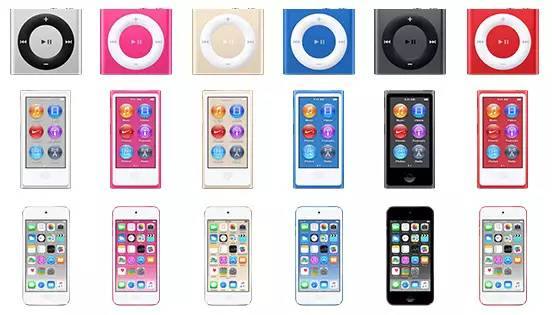 itunes-12-2-show-new-gold-dark-blue-dark-pink-ipod-nano-touch-and-shuffle-1