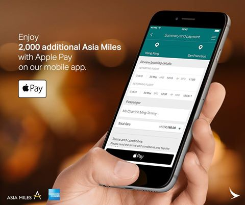 cathay-pacific-support-apple-pay-and-enjoy-2000-extra-asia-miles
