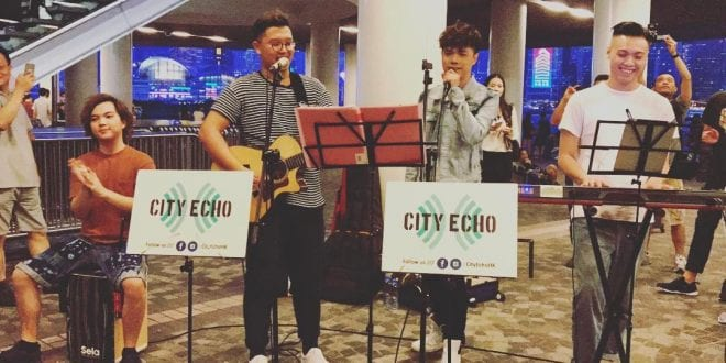 張敬軒 Hins Cheung  x City Echo 尖沙咀 Busking Live 街頭演唱